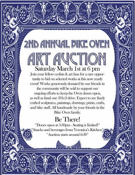 Bike Oven Art Auction 2014